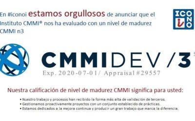 ICONOI ha obtenido la certificación de calidad n3 otorgada por el instituto CMMI®